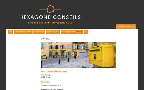 Screenshot of Contact Page hexagone-conseils.fr - Contact - captured May 8, 2017