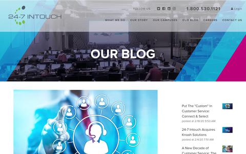 Screenshot of Blog 24-7intouch.com - The Contact Center Formula - captured Feb. 20, 2020