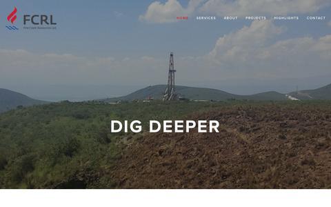 Screenshot of Home Page fcrl.ca - Fire Creek Resources Ltd. - captured Feb. 10, 2016