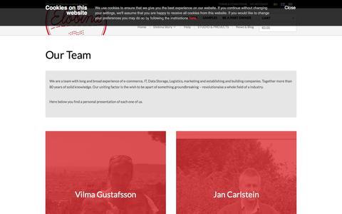 Screenshot of Team Page elobina.com - Our Team - Elobina (international) - captured July 30, 2017