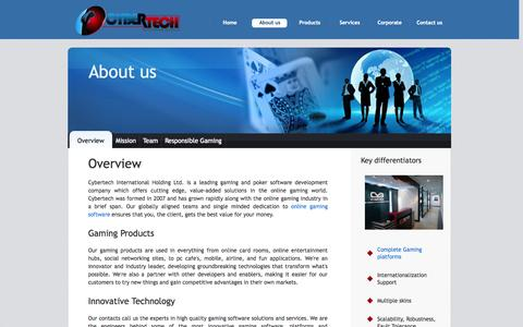 Screenshot of About Page onecybertech.com - Onecybertech Company Overview - captured Oct. 1, 2014