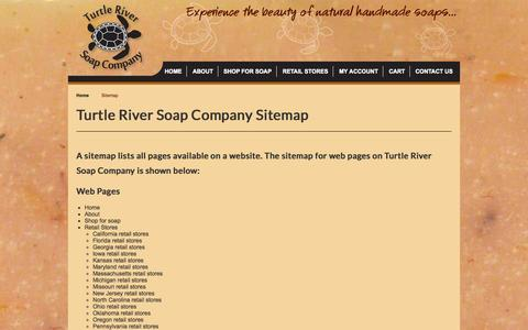Screenshot of Site Map Page turtleriversoap.com - Turtle River Soap Company Sitemap - captured Oct. 26, 2014
