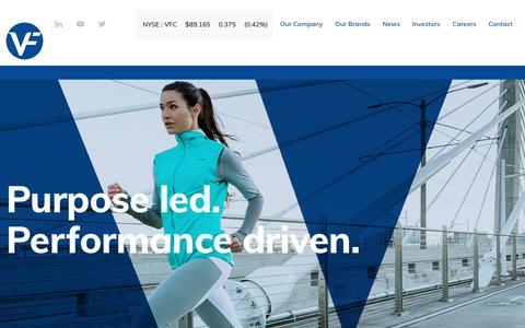 Screenshot of Home Page vfc.com - VF Corporation (VFC) - captured Sept. 30, 2019