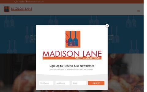 Screenshot of Home Page madison-lane.com - Madison Lane Sales + Marketing | Bringing the Best to Market - captured Nov. 17, 2016