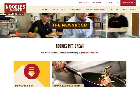 Screenshot of Press Page noodles.com - Newsroom - Noodles & Company - captured Dec. 15, 2015
