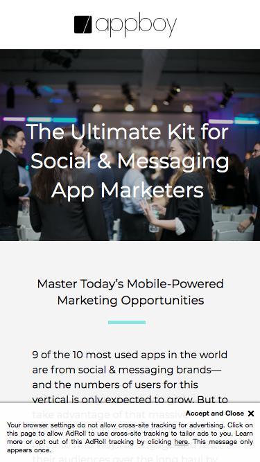 Mastering Social & Messaging Marketing | Appboy