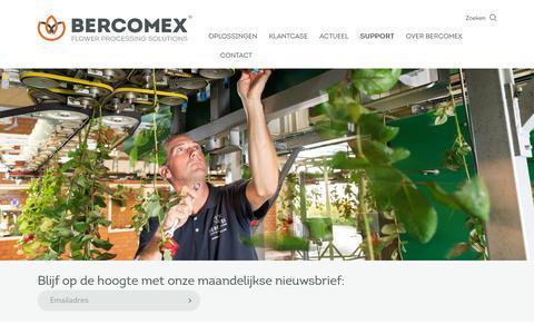 Screenshot of Support Page bercomex.com - Bercomex   Support - captured Dec. 18, 2018