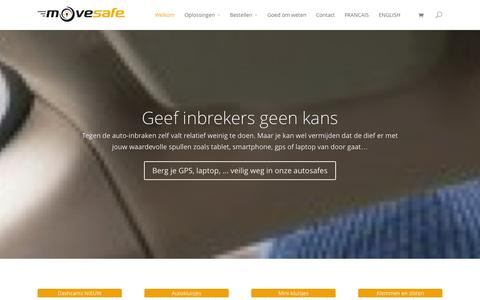 Screenshot of Home Page movesafe.be - Welkom - movesafe.be - captured Oct. 9, 2014