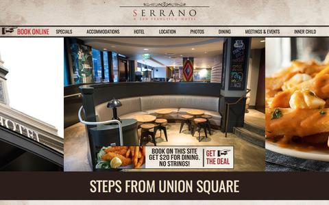 Serrano Hotel Union Square San Francisco | Official Hotel Site
