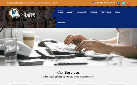Screenshot of Home Page thevirtualservices.com - Hire a Virtual Assistant Services | Best Online Virtual Assistant Services - captured July 8, 2018