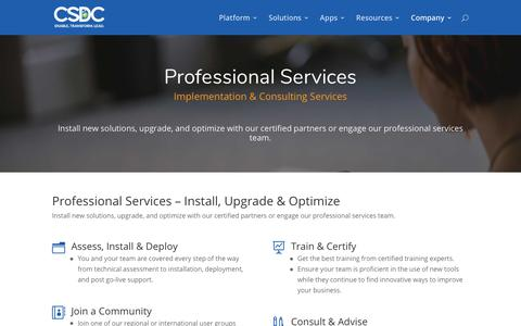 Screenshot of Services Page csdcsystems.com - Services | CSDC Inc - captured July 7, 2017