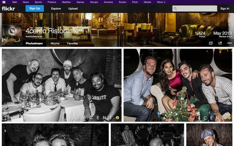 Screenshot of Flickr Page flickr.com - Flickr: 4centoristorante's Photostream - captured Oct. 26, 2014