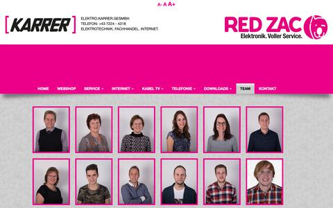 Screenshot of Team Page karrernet.at - Elektro Karrer GesmbH - TEAM - captured Oct. 29, 2018