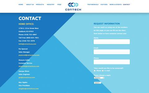 Screenshot of Contact Page contechusa.com - Contact Contech  » Contech USA - captured Nov. 5, 2018