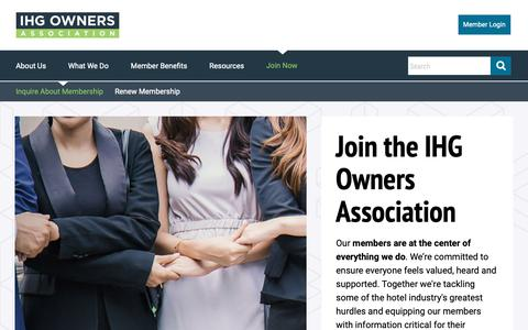 Screenshot of Signup Page owners.org - Join the IHG Owners Association | IHG Owners Association - captured Dec. 16, 2018