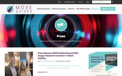 Screenshot of Press Page moveguides.com - Press | MOVE Guides - captured Dec. 8, 2016