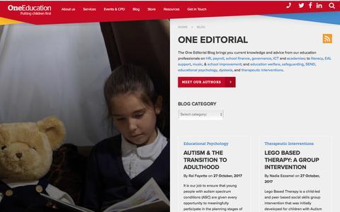 Screenshot of Blog oneeducation.co.uk - One Editorial Blog   One Education - captured Nov. 2, 2017