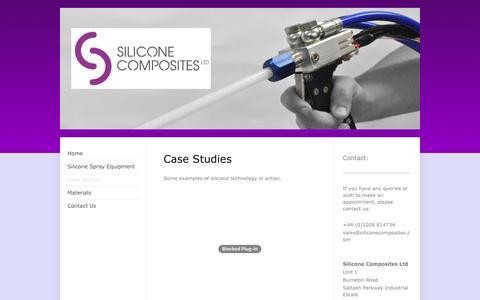 Screenshot of Case Studies Page siliconecomposites.com - Silicone Composite Ltd - Case studies - captured Dec. 1, 2016