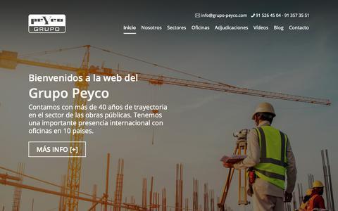 Screenshot of Home Page peyco.es - Peyco » Grupo Peyco - captured Oct. 22, 2018