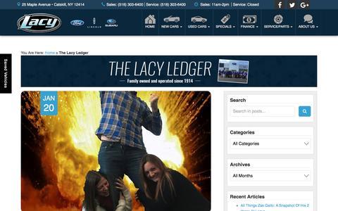 Screenshot of Blog rclacy.com - Lacy Ford Lincoln Subaru Blog | Ford, Lincoln, Subaru Dealer Albany - captured Jan. 24, 2016