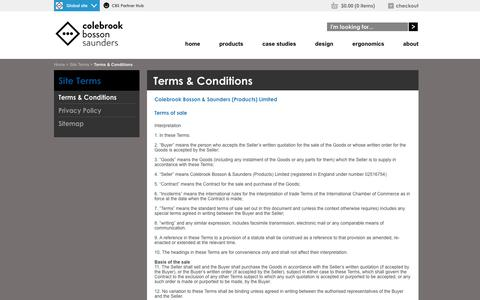 Screenshot of Terms Page colebrookbossonsaunders.com - Colebrook Bosson Saunders - captured Sept. 30, 2014