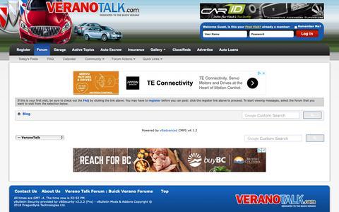 Screenshot of Blog veranotalk.com - Verano Talk Forum : Buick Verano Forums - Blog - captured Oct. 22, 2018