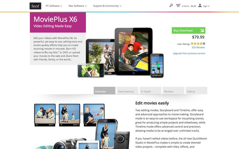HD Video Editing Software – MoviePlus X6 from Serif