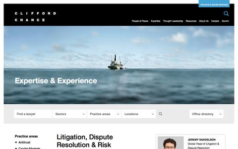 Clifford Chance | Litigation, Dispute Resolution & Risk Management