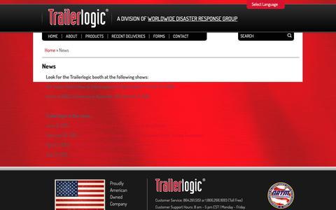 Screenshot of Press Page wwdrg.com - News - Trailerlogic - captured Nov. 7, 2018