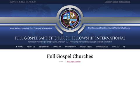Screenshot of Locations Page fullgospelbaptist.org - Full Gospel Baptist | Full Gospel Churches - Full Gospel Baptist - captured Oct. 6, 2014