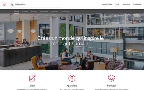 Screenshot of Jobs Page airbnb.ca - Le quotidien | Carrières chez Airbnb - captured Oct. 22, 2018