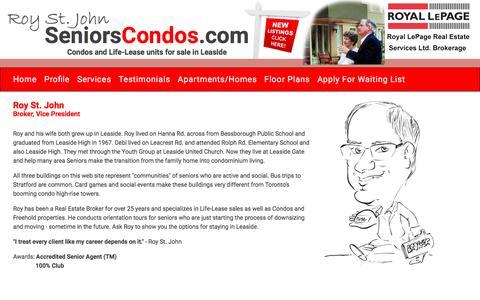 Screenshot of About Page seniorscondos.com - Seniors Condos - captured Oct. 21, 2016