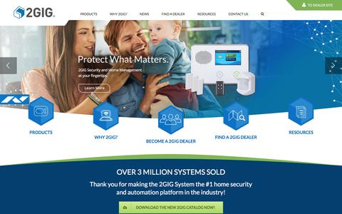 Screenshot of Home Page 2gig.com - 2GIG - The #1 home security and automation platform in the industry - captured Sept. 18, 2017