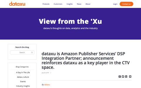 Screenshot of Services Page dataxu.com - (2) New Messages! - captured Nov. 18, 2019