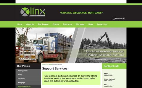 Screenshot of Support Page linxaustraliagroup.com.au - Support Services | Linx Australia Group - captured Oct. 8, 2014
