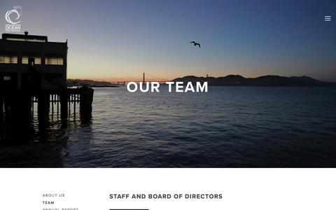 Screenshot of Team Page intloceanfilmfest.org - Team — International Ocean Film Festival - captured March 2, 2018