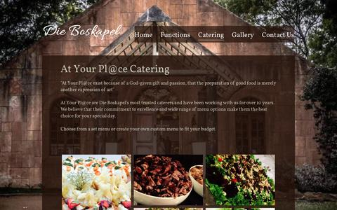 Screenshot of Menu Page boskapel.co.za - Catering - captured March 13, 2016