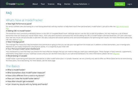 Frequently Asked Questions about InsideTracker