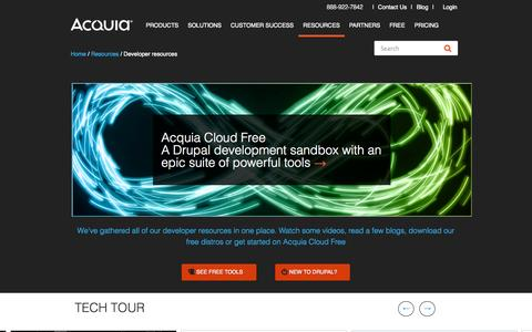 Screenshot of Developers Page acquia.com - Drupal Developers | Acquia - captured Oct. 28, 2014