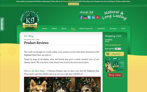 Screenshot of Blog churpi.co.uk - Healthy Dog Treats Blog - All Natural Highland Dog Treat made from cheese by Churpi - captured Oct. 2, 2014