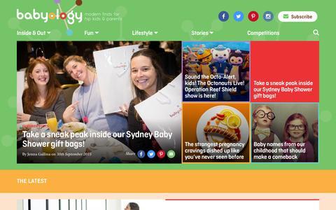 Screenshot of Home Page babyology.com.au - Babyology - Modern finds for hip kids and parents - captured Oct. 1, 2015