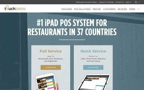 iPad POS System: TouchBistro Restaurant Point of Sale