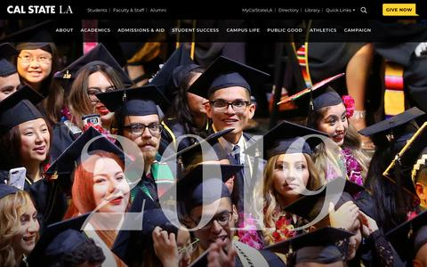 Screenshot of Home Page calstatela.edu - Cal State LA | We Are LA - captured May 16, 2019