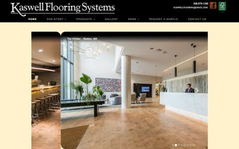 Screenshot of Home Page kaswell.com - Wood Block Flooring by Kaswell Flooring Systems - captured Sept. 6, 2015