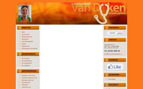 Screenshot of FAQ Page huisartsvandijken.nl - FAQ's | Huisarts van Dijken Veenendaal-Oost - captured Feb. 1, 2016