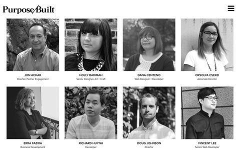 Screenshot of Team Page purpose-built.com - Team - Purpose/Built - captured Nov. 14, 2017
