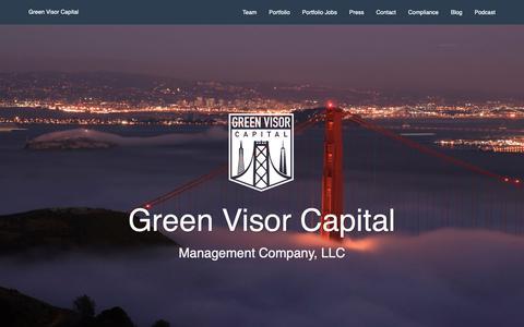 Screenshot of Jobs Page greenvisorcapital.com - Careers- Green Visor Capital - captured May 16, 2019