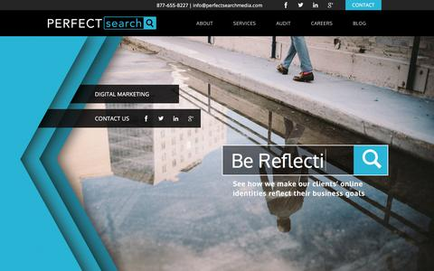 Screenshot of Home Page perfectsearchmedia.com - Digital Marketing Agency Chicago, Online Ads | Perfect Search - captured Dec. 8, 2015