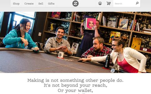 Screenshot of About Page zazzle.com - About Us - captured Oct. 10, 2014
