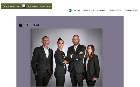 Screenshot of Team Page telluride-search.com - Telluride recruitment | Consultants - captured Nov. 18, 2018